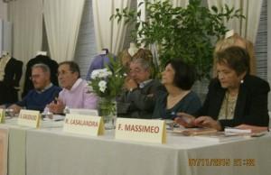 Il tavolo dei relatori. Da sin. Morgese, Mirizio, Gaudiuso, Lasalandra e Massimeo