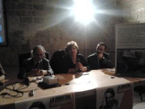 Da si. verso destra: il Prof. Mario Spagnoletti, Annella Andriani e Maurizio Lattaruli