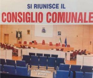 Venerdi' 25 consiglio comunale