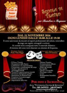 Scuola di teatro da lunedi 21 novembre