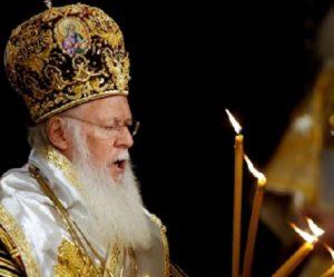Il Patriarca Bartolomeo I° di Costantinopoli